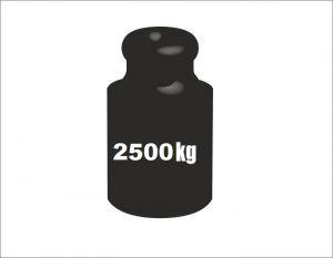 Auflastung auf 2500kg