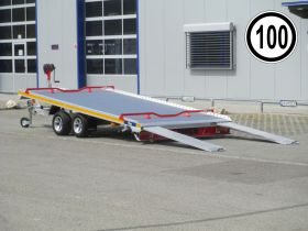 <strong>Sonderangebot B2030HTD mit Plane</strong> Holzanhänger